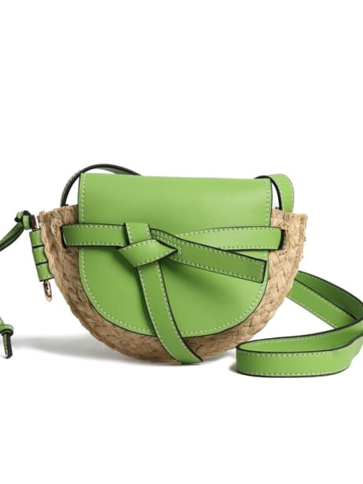 In Mix Bow woven crossbody bag