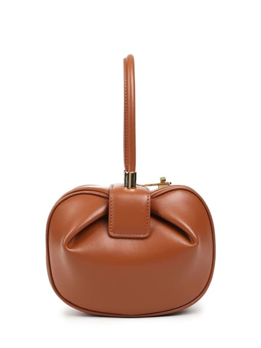 In Mix Split leather round share handle bags