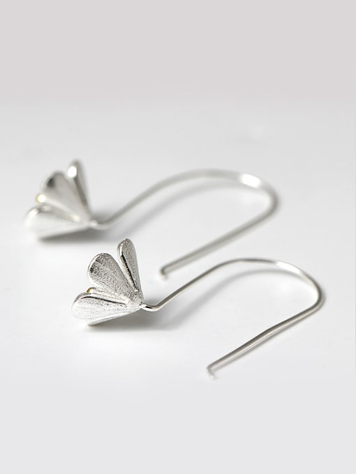 Christian Ethnic style Flower 925 Silver Earrings