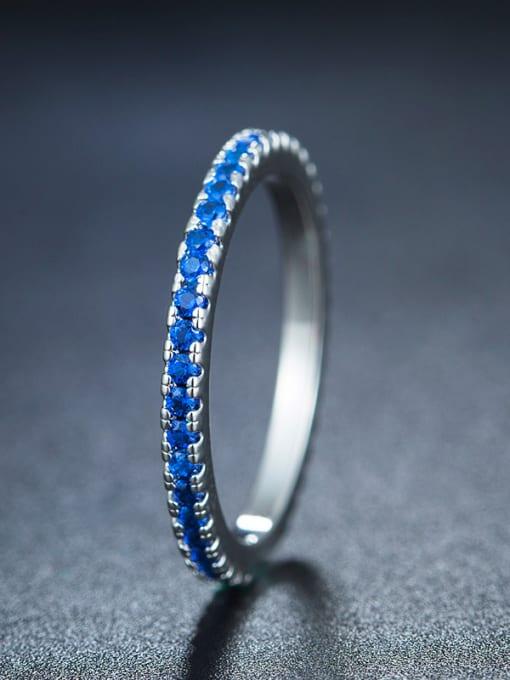 Chris Blue Geometric Ring
