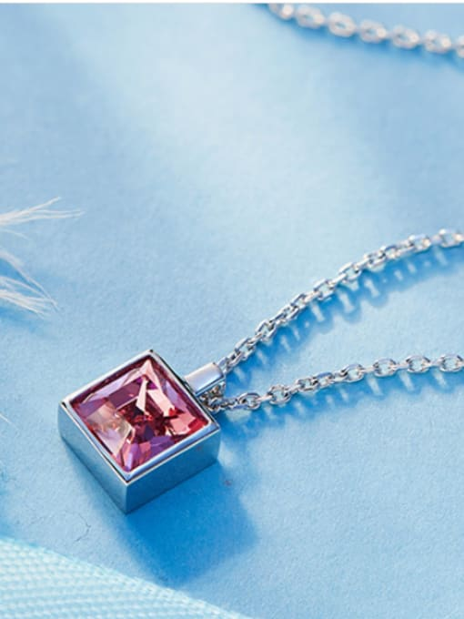 Maja 2018 Square-shaped Swarovski Crystal Necklace