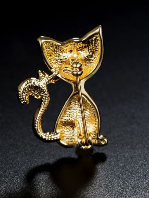 Chris Cat-shaped Zircon Brooch