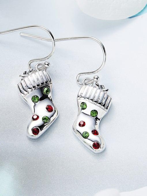 Maja Christmas Socks Shaped Crystal hook earring