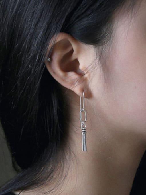 Arya Retro style Little Tassels Antique Silver Plated Earrings