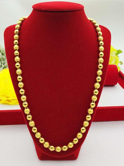 Neayou Men Exquisite Round Beads Necklace