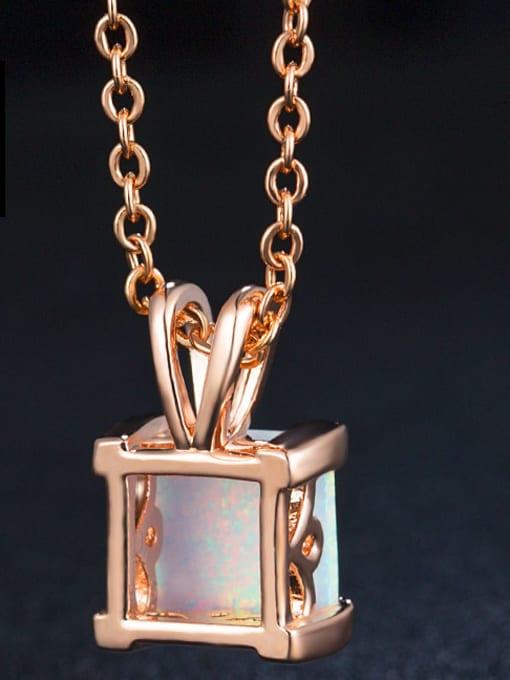 Chris Square Opal Stone Two Pieces Set