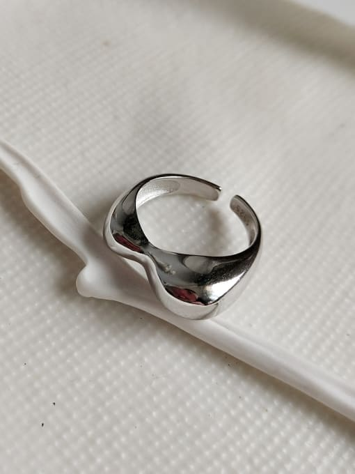 Jolie Silver 925 Sterling Silver With Platinum Plated Personality Geometric Rings