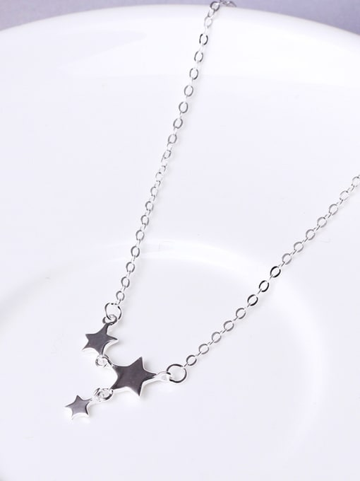 Christian Simple Little Stars 925 Silver Necklace