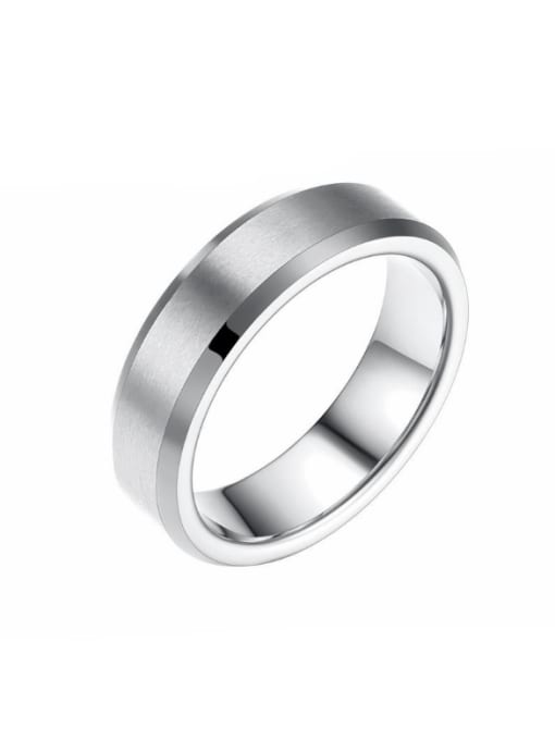 Tong Stainless Steel With Black Gun Plated Simplistic Geometric Rings