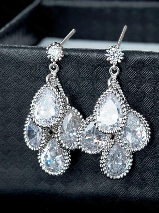 Chris Water Drop Shaped Cluster earring