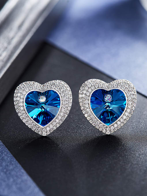 Maja Swarovski Crystals Heart-shaped stud Earring