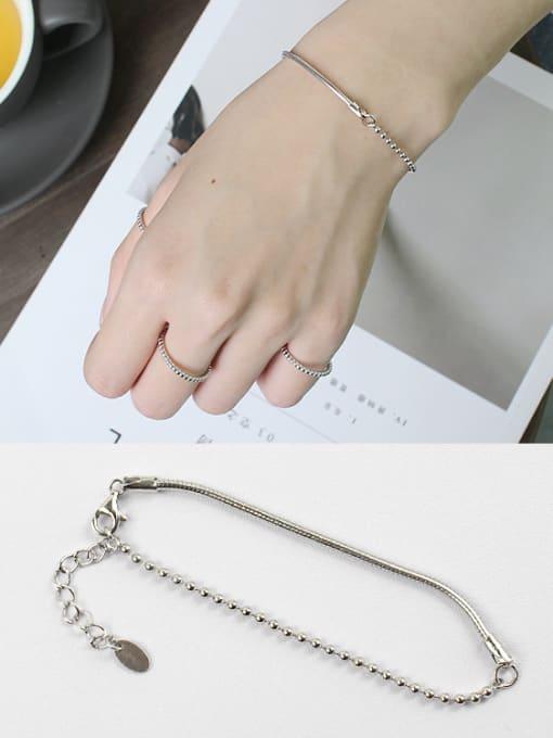 Arya Sterling Silver personality snake chain  asymmetrical Bracelet