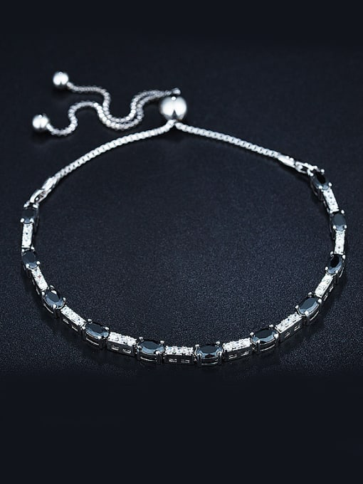 Chris Platinum Zircon Bracelet