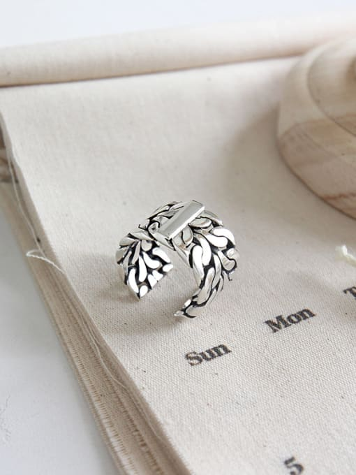 Dark Phoenix 925 Sterling Silver With Antique Silver Plated Vintage Coat Of Arms Rings