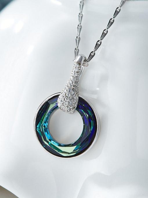 Maja S925 Silver Swarovski Crystals Necklace
