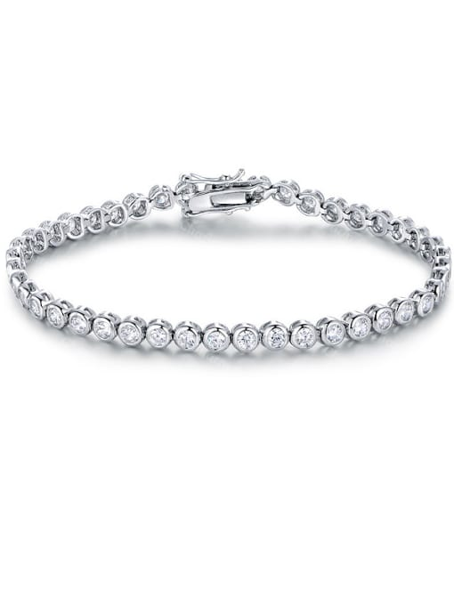 Chris 2018 2018 2018 Platinum Plated Zircon Bracelet