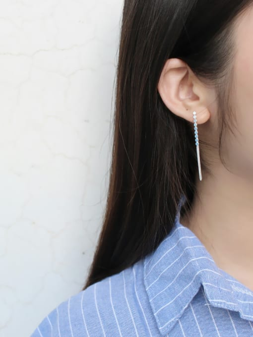 Arya 925 Sterling Silver With round Threader Earrings