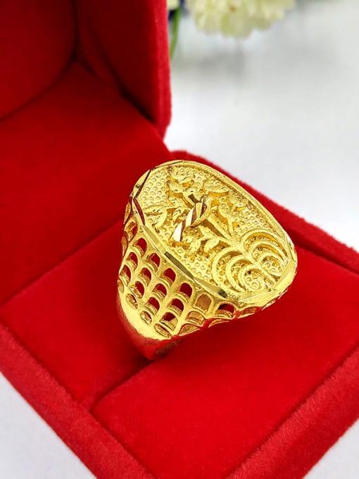 Neayou Unisex Hollow Flower Shaped Ring