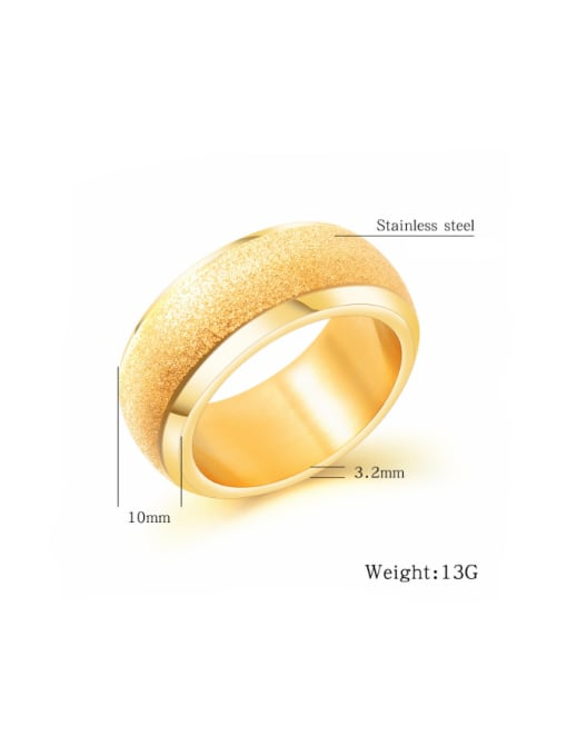 Tong Stainless Steel With Gold Plated Fashion Geometric Rings