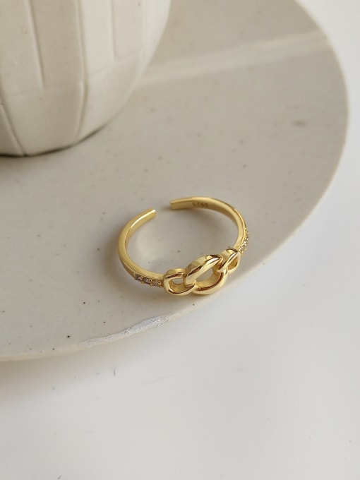 Jolie Silver 925 Sterling Silver With 18k Gold Plated Simplistic Rings