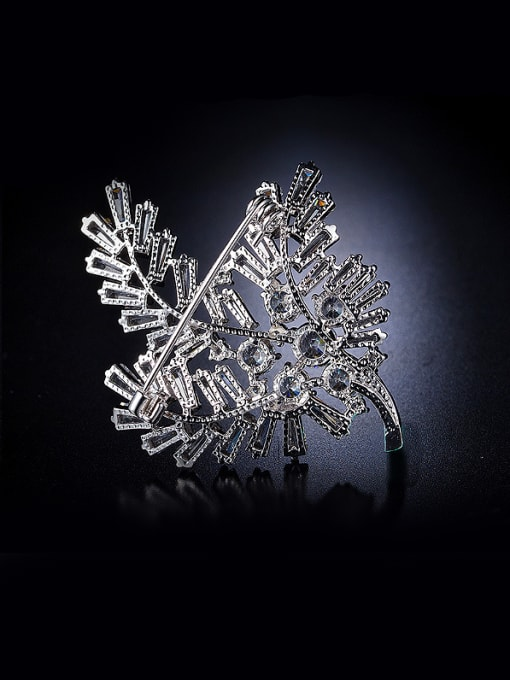 Chris Flower Zircon Brooch
