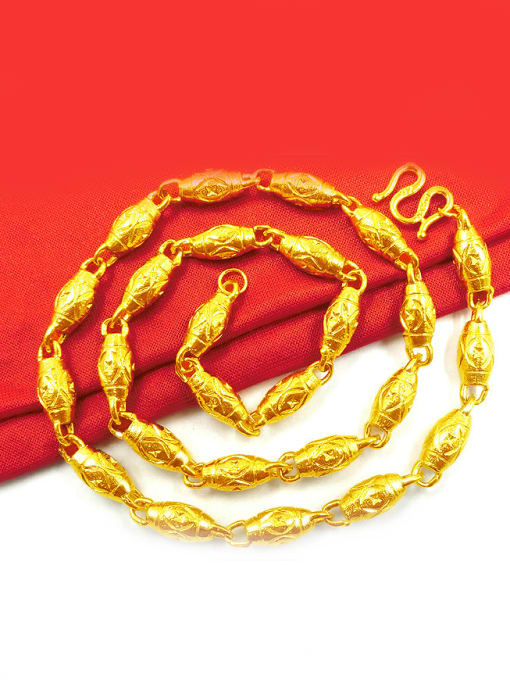 Neayou Men Delicate Geometric Shaped Necklace