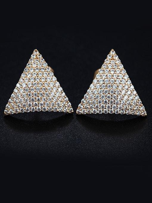 Chris 2018 Triangle Zircon stud Earring
