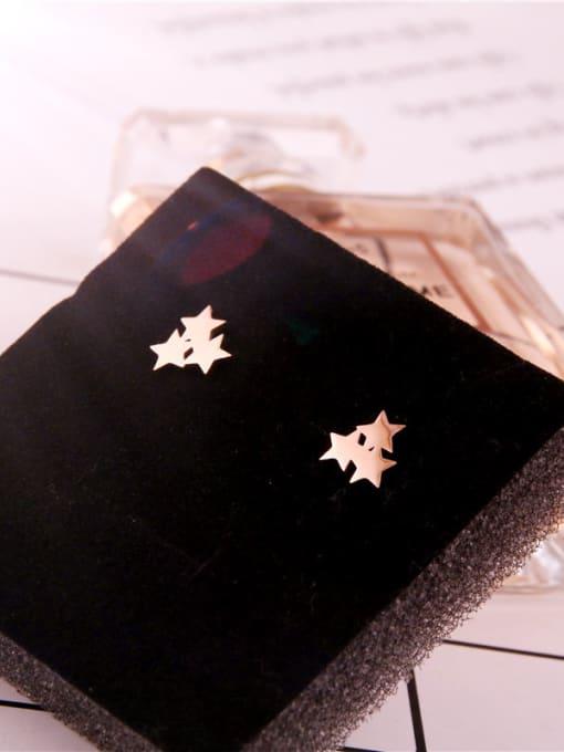 Rose Fashion Sweetly Stars Stud Earrings