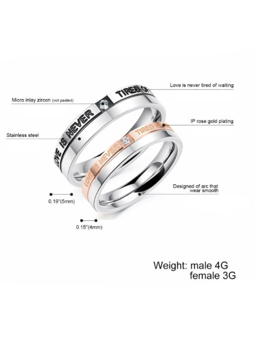 Tong Stainless Steel With Fashion Geometric Rings