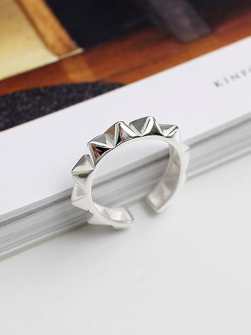 Arya Punk style Personalized Silver Opening Ring