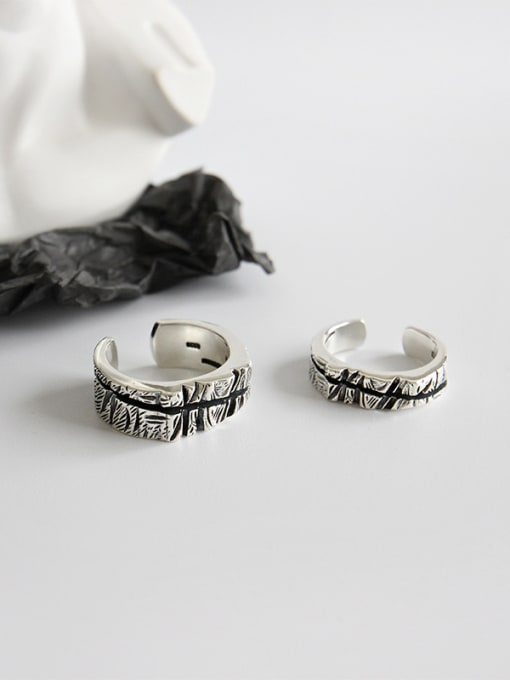 Dark Phoenix 925 Sterling Silver With Antique Silver Plated Vintage Lovers ring