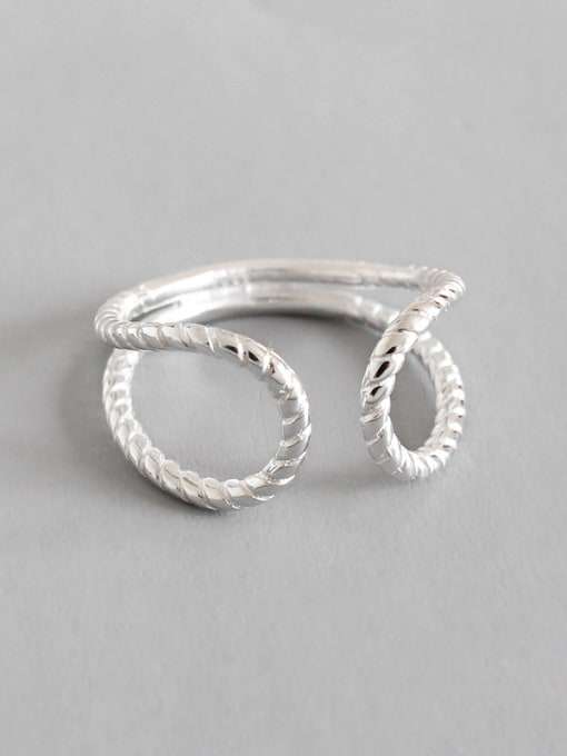 Arya 925 Sterling Silver With Silver Plated Fashion Geometric Rings