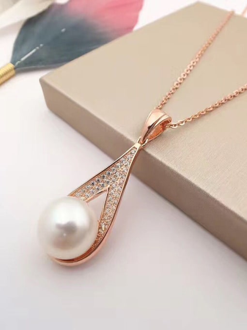 Evita Peroni 2018 Freshwater Pearl Water Drop shaped Necklace
