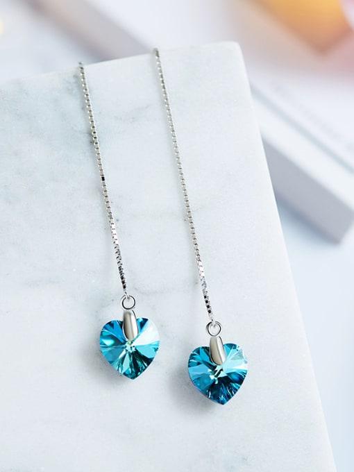 Maja S925 Silver Heart-shaped Tassel Ear Lines