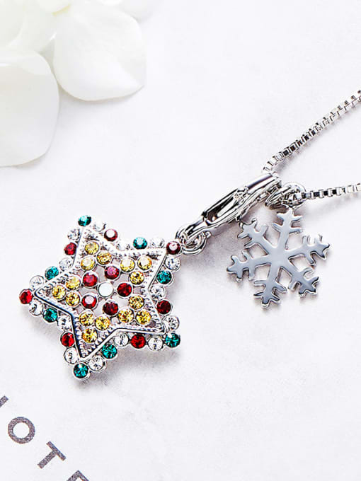 Maja Star Shaped Multi-color Necklace