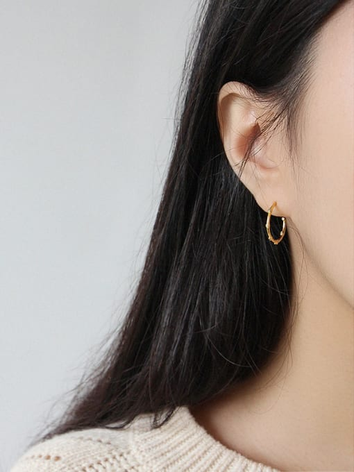 Dark Phoenix 925 Sterling Silver With 18k Gold Plated Trendy Minimalist Hoop Earrings