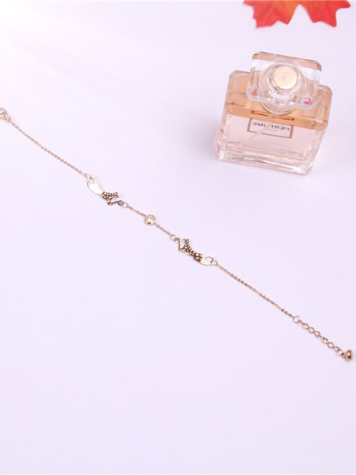 Rose Lovely Leopard Women Titanium Anklet