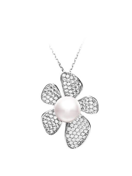 Evita Peroni Freshwater Pearl Flowery Necklace