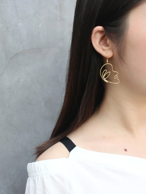Arya Personalized Exaggerated Abstract Face Silver Earring