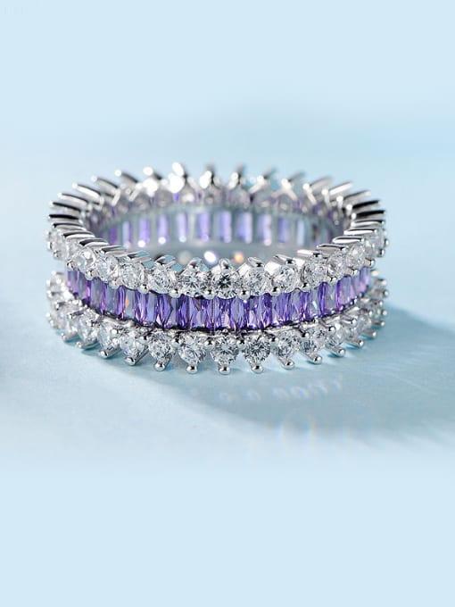 Chris Purple Zircon Multistone ring