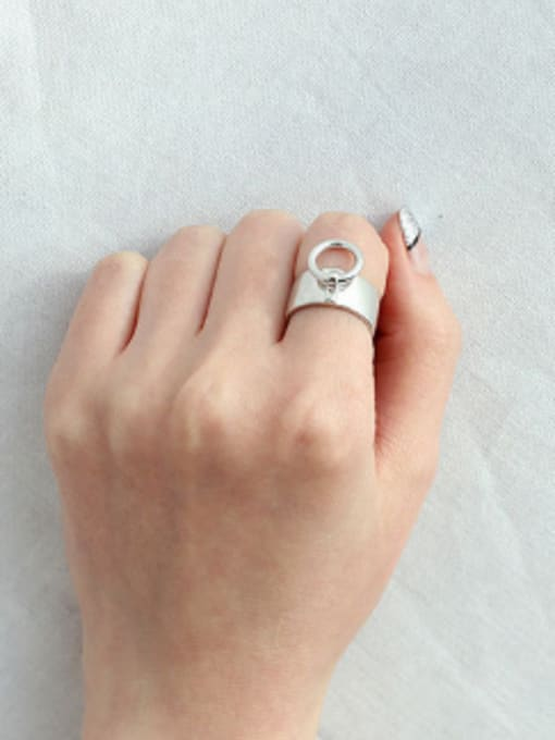 Arya Personalized Smooth Silver Opening Ring