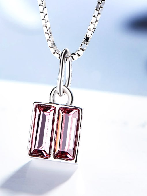 Maja Square-shaped S925 Silver Necklace