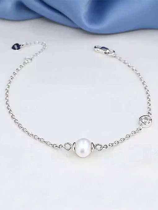Evita Peroni Simple Freshwater Pearl Bracelet
