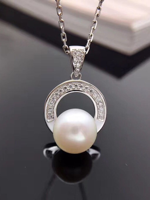 Evita Peroni 2018 Simple Freshwater Pearl Round Necklace