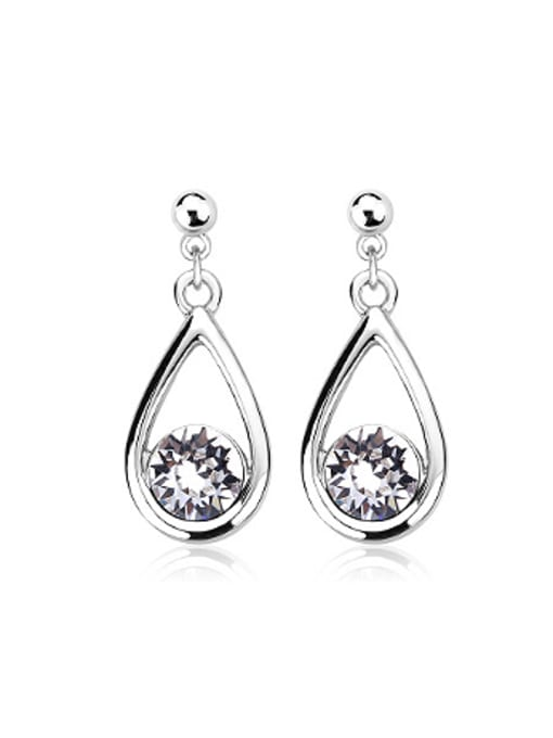 OUXI Simple Water Drop Austria Crystal Earrings