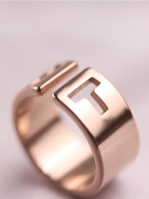 Rose Exaggerate Hollow Titanium Opening Ring