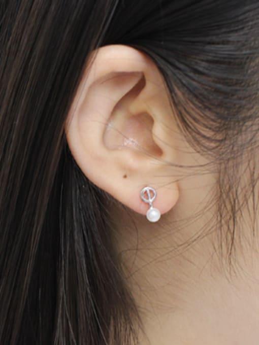 Arya Simple Little Freshwater Pearl Silver Stud Earrings