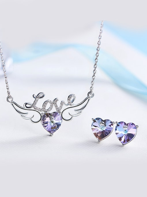 Maja Swarovski Crystal Heart-shaped Set