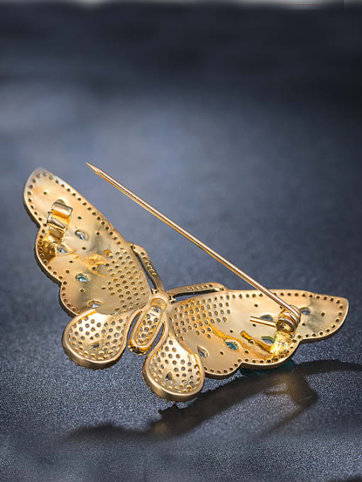 Chris Colorful Zircon Butterfly Brooch