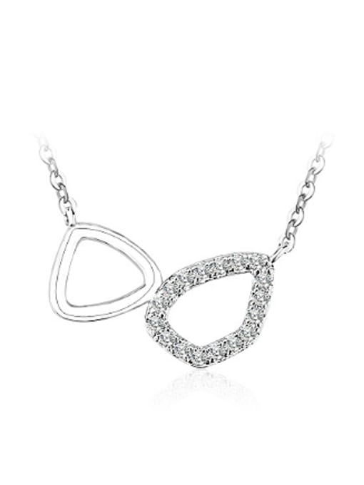 OUXI Simple Cubic Zircon Geometrical Necklace